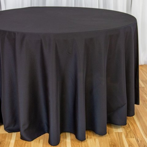 Black Round Table Cloth 120