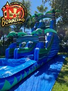 22 ft. Blue Crush Single Lane W/Pool $220Best for ages 6+ Space Needed 45 L x 25 W x 22 H
