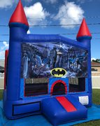 Batman Bounce House w/Basketball Hoop Inside $95Best for ages 4+ Space Needed 15 W x 15 D x 16 H