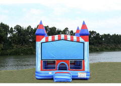 Glacier Castle Bounce House w/Basketball Hoop Inside $95Best for ages 3+ Space Needed 18 W x 18 D x 16 H