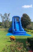 24 ft. Blue Wave Single Lane W/Stopper (Dry) $280Best for ages 8+ Space Needed 45 L x 25 W x 24 H