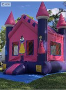 Princess Castle Bounce House $95Best for ages 4+ Space Needed 15 W x 15 D x 16 H
