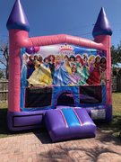 Princess Bounce House w/Basketball Hoop Inside $95Best for ages 4+ Space Needed 15 W x 15 D x 16 H
