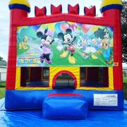 Mickey & Minnie Bounce House w/Basketball Hoop Inside $95Best for ages 4+ Space Needed 15 W x 15 D x 16 H