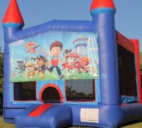 Paw Patrol Bounce House w/Basketball Hoop Inside $95Best for ages 4+ Space Needed 15 W x 15 D x 16 H