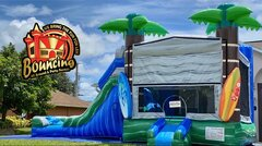 Tropical Beach Combo (Wet or Dry) w/Basketball Hoop Inside $175Best for ages 3+ Space Needed 20 W x 32 L x 19 H