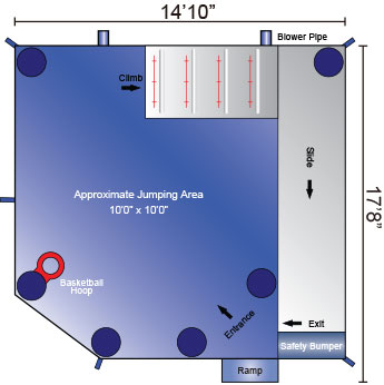 Baby Shark Combo Rental Floor Plan