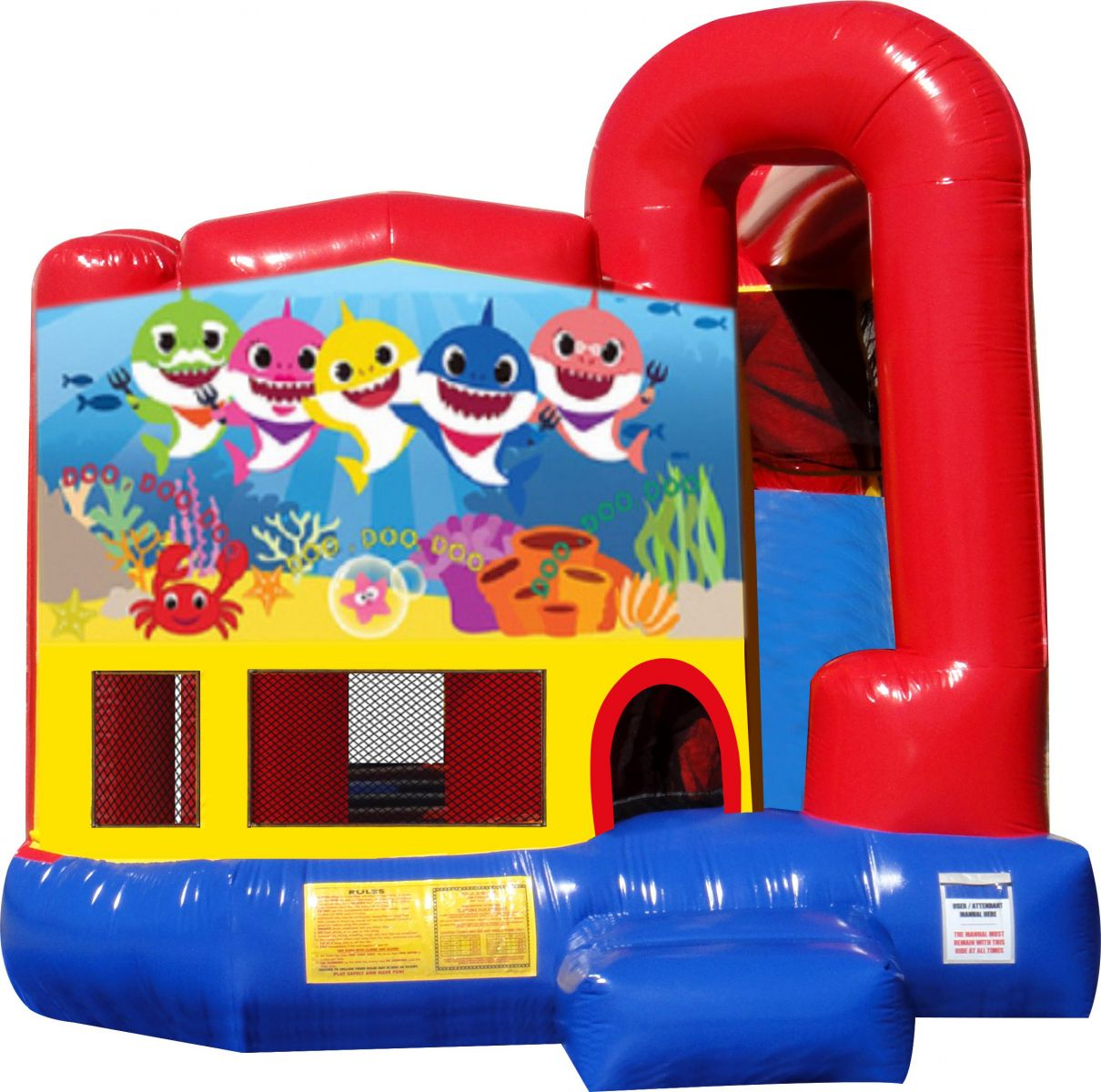 Baby Shark Combo Bouncer Rental