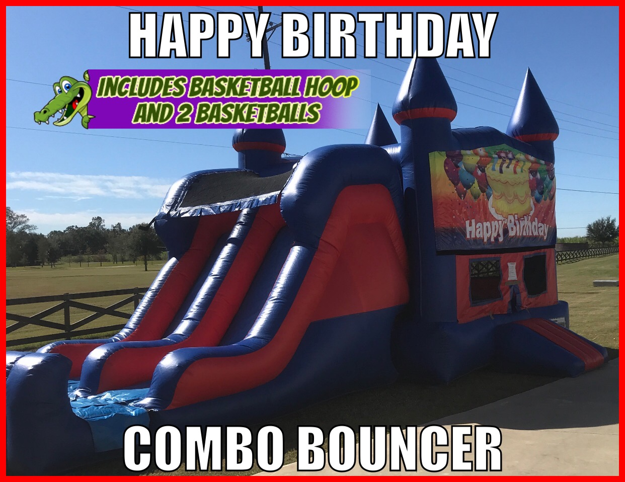 Happy Birthday Combo Bouncer Rental