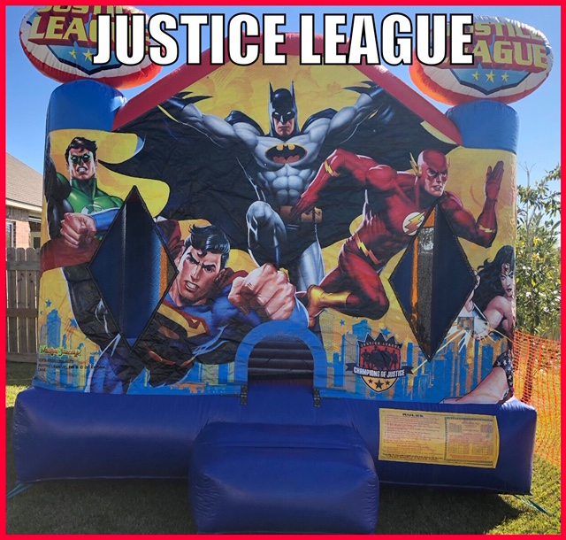 Justice League Inflatable Fun Jump Rental Youngsville LA