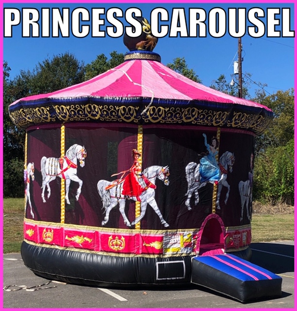 Princess Carousel Bouncer Rental Youngsville LA
