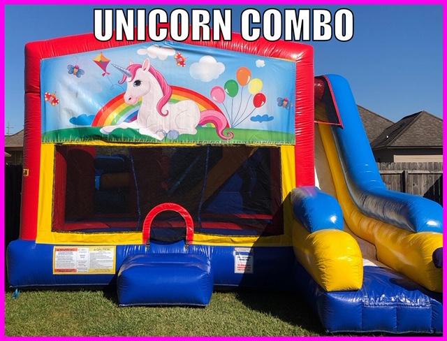 Unicorn Inflatable Combo Fun Jump Rental Youngsville LA