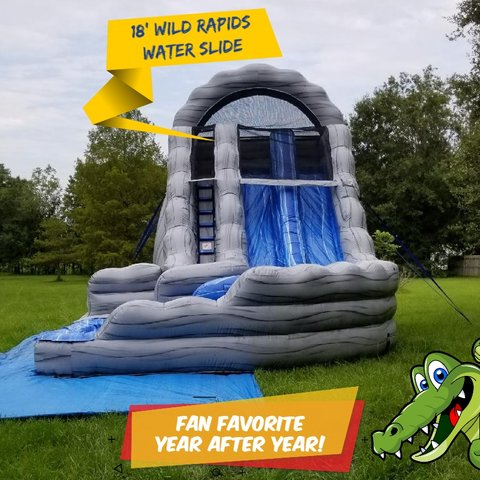 A 18' Wild Rapids Water Slide