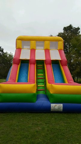 18 Foot Dual Lane Dry Slide