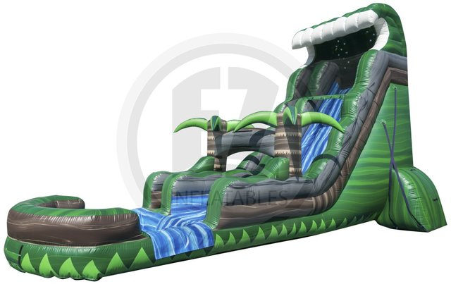 A 22' Emerald Springs Water Slide With Pool