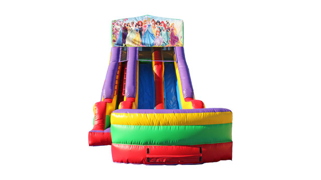 All Disney Princesses 18' Double Lane Dry Slide