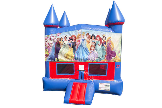 All Disney Princesses Bounce House With Basketball Goal