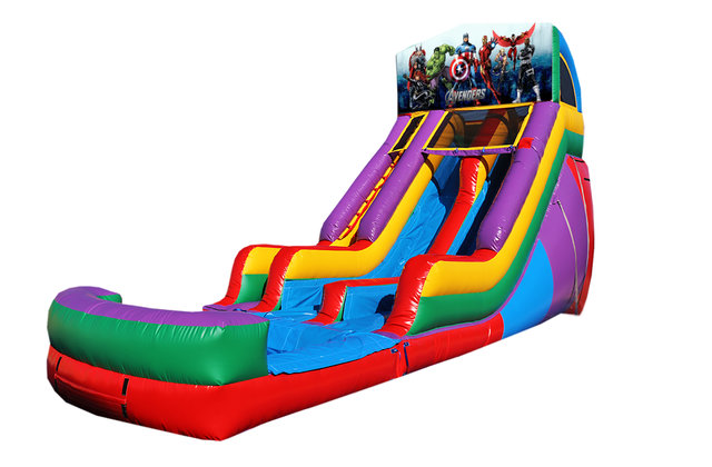 Avengers 18' Double Lane Water Slide