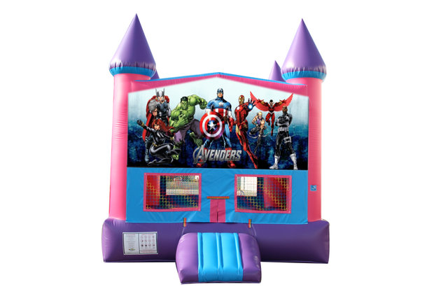Avengers Fun Jump (Pink) with Basketball Goal