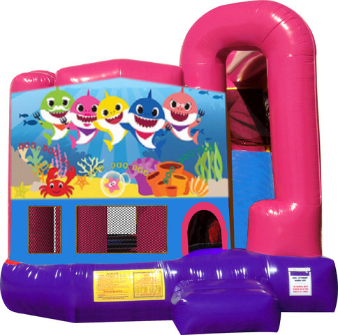 Baby Shark 4N1 Bounce House Combo (Pink)