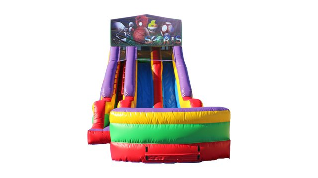 Big Sports 18' Double Lane Dry Slide