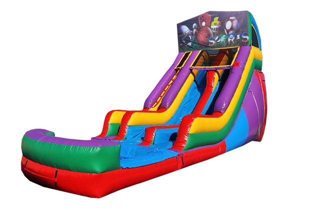 Big Sports 18' Double Lane Water Slide