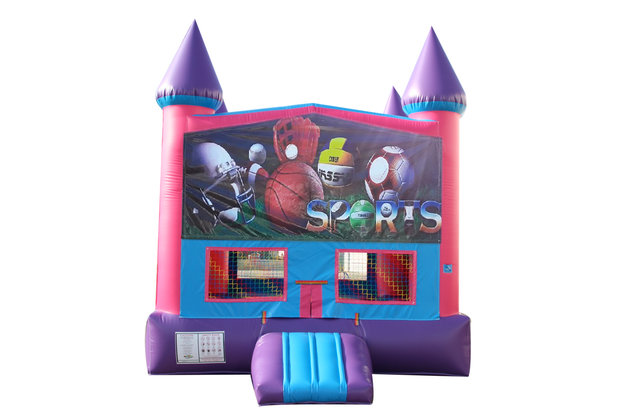 Big Sports Fun Jump With Basketball Goal (Pink)