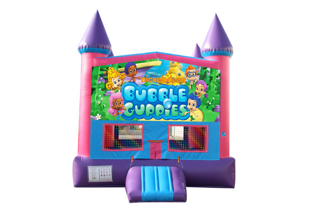 Bubble Guppies Fun Jump (Pink) with Basketball Goal