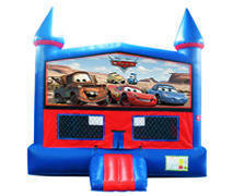 Cars Bounce House With Basketball Goal