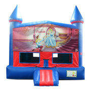 Cinderella Bounce House with Basketball Goal