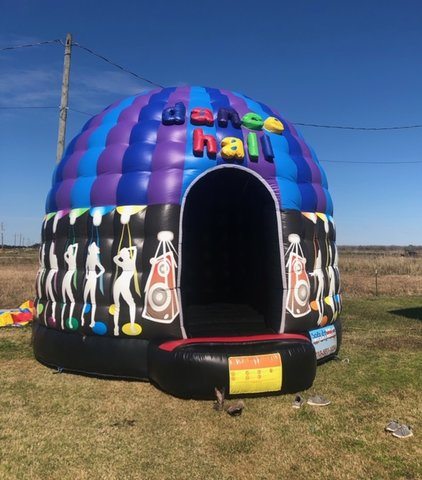 A Dance Hall Inflatable With Music & Lights