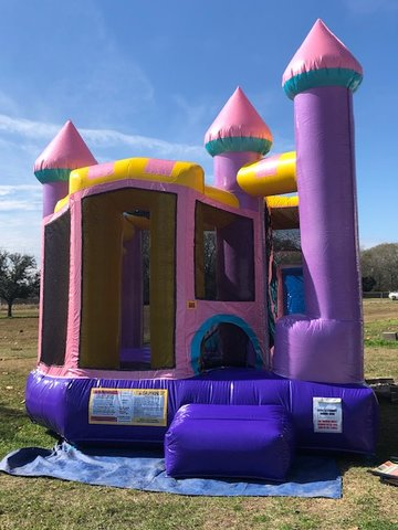 Dazzling Dream Castle 4N1 Combo Bounce House