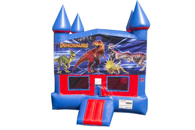 Dinosaur Bounce House with Basketball Goal