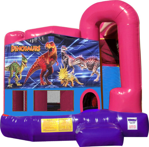 Dinosaur 4N1 Bounce House Combo (Pink)