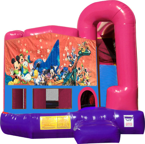Disney Characters 4N1 Inflatable Combo Fun Jump (Pink)