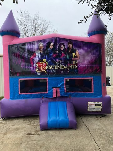 Disney Descendants Fun Jump With Basketball Goal (Pink)