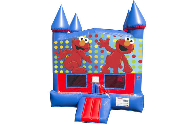 Elmo Bounce House with Basketball Goal