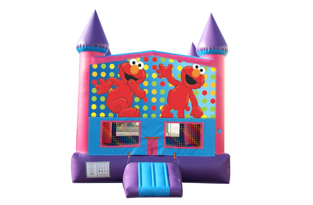 Elmo Fun Jump (Pink) with Basketball Goal