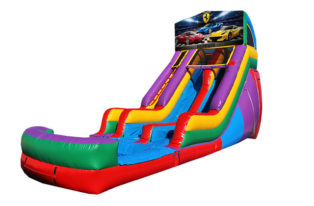 Ferrari 18' Double Lane Water Slide