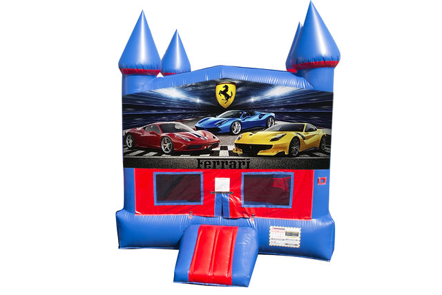 Ferrari Bounce House with Basketball Goal