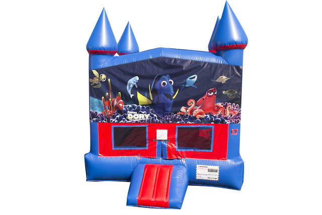 Finding Dory Bounce House With Basketball Goal