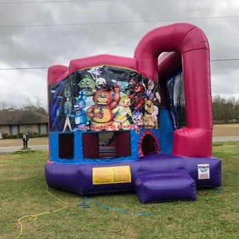 Five Nights at Freddy's 4N1 Bounce House Combo (Pink)