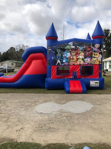 Five Nights at Freddy's 7' Double Lane Dry Slide Bounce House Combo