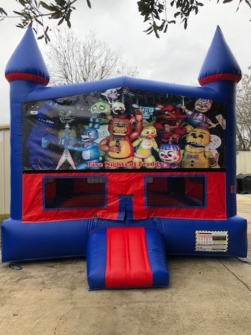 Five Nights At Freddy's Bounce House With Basketball Goal