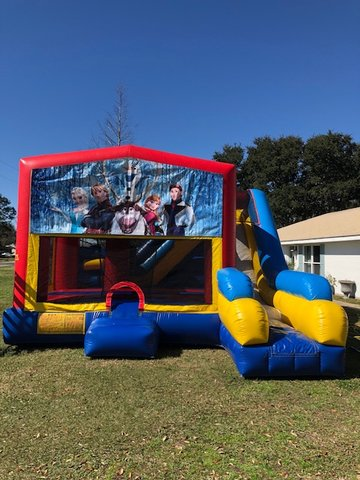 Frozen 7N1 Inflatable Combo Fun Jump