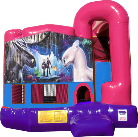 How to Train Your Dragon 4N1 Bounce House Combo (Pink)