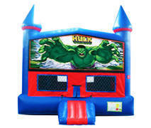 Incredible Hulk Bounce House with Basketball Goal