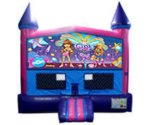 Its A Girl Thing Fun Jump(Pink) Bounce House with Basketball Goal