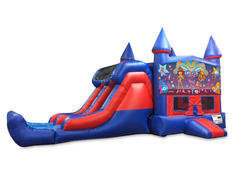 It's A Girl Thing 7' Double Lane Dry Slide With Bounce House