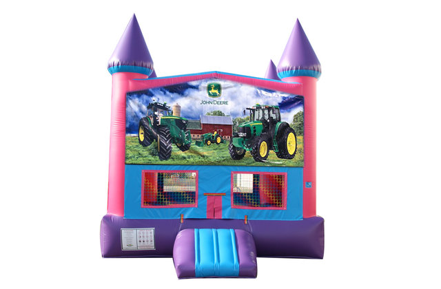 John Deere Fun Jump (Pink) with Basketball Goal